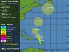 Tropical Storm Rafael has formed over Eastern Caribbean