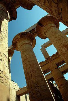 Karnak Pillars, Luxor, Egypt 1 by off2africa, via Flickr