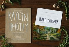 Oh So Beautiful Paper: Hand Lettered Wedding Invitations by AllieRuth Design