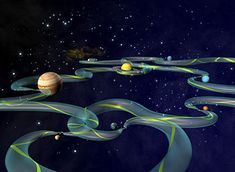 The Interplanetary Transport Network (ITN) is a collection of gravitationally determined pathways through the solar system that require very little energy for an object to follow. The ITN makes particular use of Lagrange points as locations where trajectories through space are redirected using little or no energy. These points have the peculiar property of allowing objects to orbit around them, despite the absence of any material object therein.