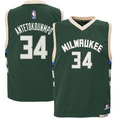 Outerstuff Giannis Antetokounmpo  34 Milwaukee Bucks Youth Road Jersey  GreenSports amp  Outdoors 2faaaf739