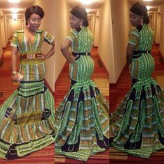 Latest Edition Of Ankara & Kente Styles: Hot, Slinky, Sassy & Stunning - Wedding Digest Naija African Inspired Fashion, African Print Fashion, Africa Fashion, Fashion Prints, Fashion Design, Fashion Styles, Fashion Ideas, Men's Fashion, Fashion Tips