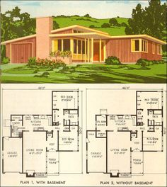 Contemporary house plans mid century  Modern House Floor  c  1960 Mid Century California Modern House Plan   Better Homes  . Mid Century Modern Home Floor Plans. Home Design Ideas