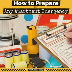 How to Prepare for Any Apartment Emergency | More than 55% of renters don't feel safe or prepared for emergencies in their apartment, and about one third of renters have no plan in case an emergency situation arises. Be prepared for any apartment emergency with these tips!