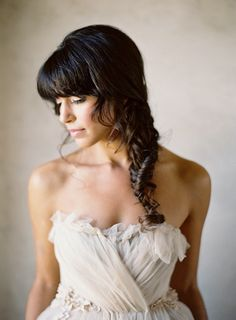 Loose and romantic. #hairstyles #bridalbraids  Photography: Jose Villa Photography - josevillaphoto.com  View entire slideshow: 15 Bridal Braids We Adore at http://www.stylemepretty.com/2014/05/06/15-bridal-braids-we-adore/