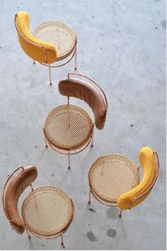 Wicker style chairs, velvet yellow chair, mustard yellow velvet chair - L I V I N G - Chair Design Plywood Furniture, Cool Furniture, Furniture Design, Furniture Removal, Futuristic Furniture, Furniture Outlet, Contemporary Furniture, Antique Furniture, Modern Contemporary