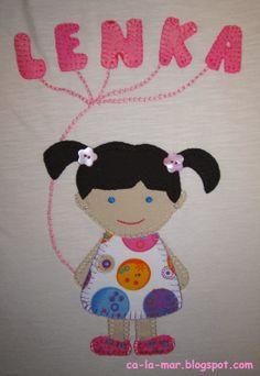 Patchwork: Camiseta de muñeca con globos