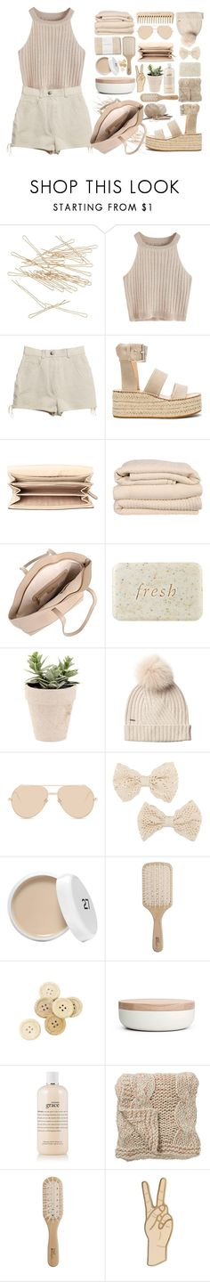 """""""Nude."""" by deserii ❤ liked on Polyvore featuring J.Crew, Chanel, rag & bone, The Body Shop, MICHAEL Michael Kors, Brahms Mount, Fresh, Woolrich, Linda Farrow and MOOD"""