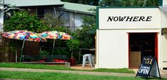 Nowhere Espresso is a tiny colourful coffee nook annexed to a quaint historical row of shops in the depths of suburban Toowong.
