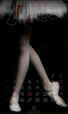https://flic.kr/p/K8ncRH | 2016 Julio July Juillet Julho Juli | Calendar: Ballet, Art and Photography