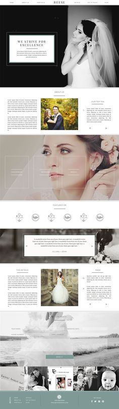 Reese is a classic and elegant website design for the photographer who wants a website that is both beautiful and functional. By Rachel Earl for Showit