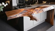 Take a look at our tree trunk bar tables & bar elements. We manufacture exclusive single pieces for general gastronomy and the hotel industry. Slab Table, Wood Tables, Dining Tables, Contemporary Design, Modern Design, Wood Creations, Wooden Bar, Warm Colors, Natural Wood