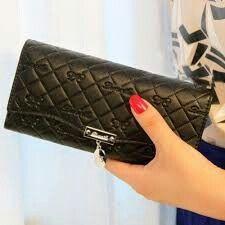 Minimalist Bag, Long Wallet, Clutch Wallet, Handbags, Purses, Clutches, Popular, Button, Black