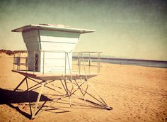 Beach Photo Off Season 85x11inch Photo Lifeguard by SSCphotography, $27.00