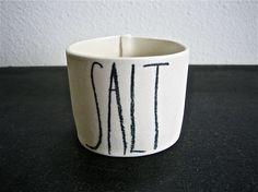 handmade porcelain salt cellar by raedunn on Etsy