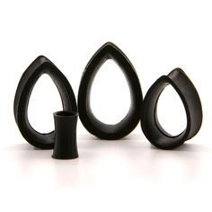 Black Teardrop Silicone Tunnel | UK Custom Plugs - Ear Gauges, Flesh Tunnels for Stretched Ears