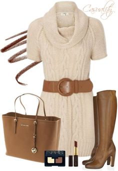 """""""Mk Bag & Knit Sweater"""" by casuality on Polyvore"""