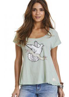T-shirt lys grøn 317M-414 Holiday Mood T-shirt - light green