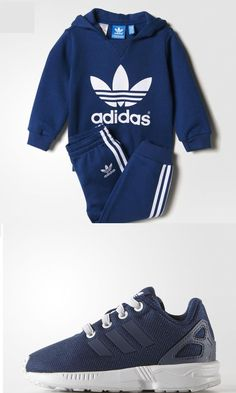#Toddlers #Blue #Adidas Tracksuit And Trainers