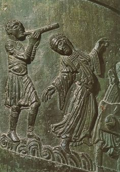 Salome Dancing (c. 1020), Hildesheim Cathedral Germany