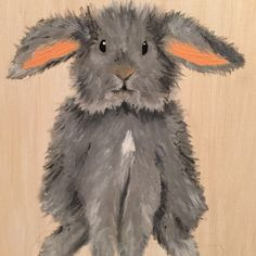 Work in progress!  commissioned rabbit painting for nursery. More updates on this piece to come.  Please contact me if you are interested in a custom piece for your nursery!