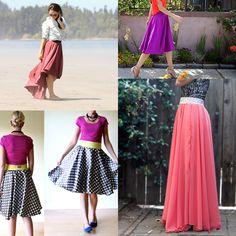 6 Gorgeous Circle Skirt Tutorials You
