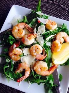 21 Day Fix Shrimp and Arugula Salad