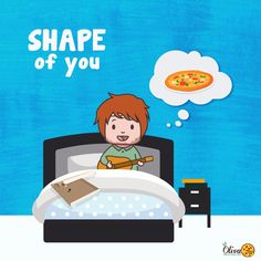 last night i ate a pizza on my bed.. now my bedsheets smell like you (pizza) 😋🍕 edsheeran shapeofyou pizza music digitalmedia graphic graphicdesign