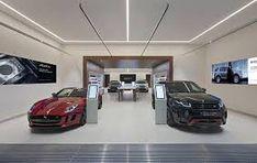 Jaguar Land Rover unveils digital showroom at Westfield Stratford Jaguar Land Rover, Cheshire Car, Showroom Design, Exhibit Design, Interior Design, Retail Experience, Experience Center, Garage Lighting, Retail Concepts