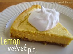 Lemon Velvet Pie | Life in the Lofthouse