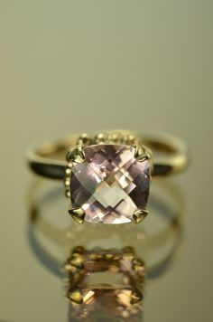 Alternative Engagement Ring, The Darcy Ring with 3ct Morganite