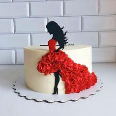Ocean Birthday Cakes, Birthday Cakes For Women, Birthday Cake Girls, Beautiful Birthday Cakes, Beautiful Cakes, Amazing Cakes, Cake Decorating Techniques, Cake Decorating Tips, Silhouette Cake