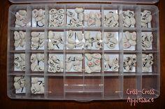 DIY Montessori Moveable Alphabet, made with lima beans!