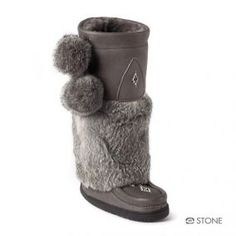 NAPPA MUKLUK by MANITOBAH MUKLUKS love that these are leather not suede