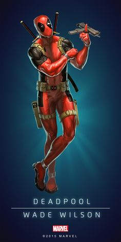 #Deadpool #Fan #Art. (DEADPOOL IN: MARVEL PUZZLE QUEST. ART) By Amadeus. Cho. ÅWESOMENESS!!!™ ÅÅÅ+