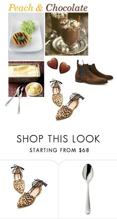 """Peach & Chocolate"" by annacullart ❤ liked on Polyvore featuring interior, interiors, interior design, home, home decor, interior decorating, Robbe & Berking, John Lobb, Jamie Oliver and contestentry"