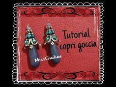 DIY: Copri goccia, decorazione Orecchini Easy - YouTube