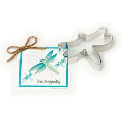 "Ann Clark Dragonfly Cookie Cutter 4"".  Made in the USA. Size: 4"" Made in the USA Certified Safe for Lead and Cadmium. US made tin-plated Steel. Hand wash."
