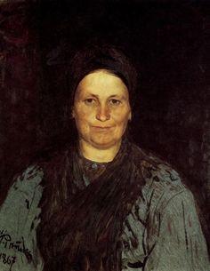 Tatyana Repina, the Artist's Mother, 1867 by Ilya Repin. Realism. portrait. National Gallery in Prague, Prague, Czech Republic