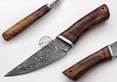 "8.75"" Custom Made Beautiful Damascus steel skinning hunting Knife (1029-2) #KnifeArtist"