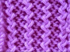 Old Shale Variations - stitch pattern 3 Baby Knitting Patterns, Knitting Stiches, Knitting Videos, Knitting Charts, Crochet Videos, Loom Knitting, Knitting Designs, Crochet Stitches, Stitch Patterns