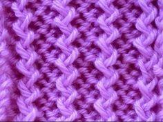 Como Tejer Punto Espiral-Spiral Rib Stitch 2 Agujas (91)
