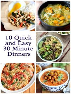 10 quick and easy dinners that will satisfy the whole family and take only 30 minutes to make.