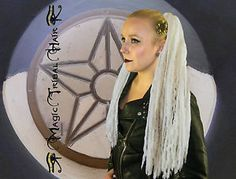 GOTHIC-DREADLOCKS-Haarteil-98-DREADS-platin-blond-WGT-STEAMPUNK-ELFE-FEE-Cosplay