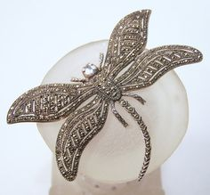 Vintage Sterling Silver Marcasite Dragonfly by GretelsTreasures