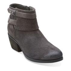 Gelata Freeza Dark Grey Suede - Clarks Womens Shoes - Womens Heels and Flats - Clarks - Clarks® Shoes