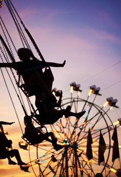carnival ferris wheel and swing