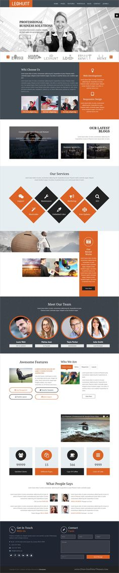LeoHunt is clean and modern design multipurpose responsive #Joomla template for #business #consulting agenceis website with 12 niche homepage layouts & page builder download now..