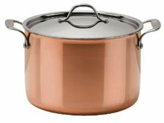 Le Cuivre Copper Try-Ply 12 3/4 Quart Stock Pot with Lid - Mirror Finish by Josef Strauss. $319.00. Should be cleaned with warm soapy water or Josef strauss Stainless steel & Copper cleaner. Compatible with most cooking surfaces, oven safe. 3-Ply Cookware with aluminum core that extends to the rim, Stainless steel interior and Copper exterior. The beauty and performance of copper. 100 % safe cooking. The Josef Strauss Le Cuivre collection combines the beauty of coppe...