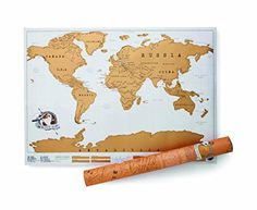 Gold foil scratch map! To scratch off the places you've been!! So cool